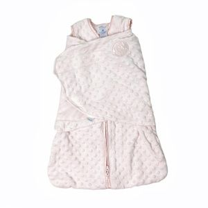 Halo pink Plushy Dot Velboa swaddle sleepsack